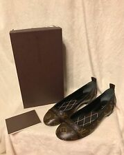 NEW IN BOX Louis Vuitton Monogram NEW REVIVAL BALLERINA FLAT Shoes 37.5, 7, 7.5