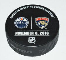 EDMONTON OILERS vs FLORIDA PANTHERS November 8, 2018 OFFICIAL WARM-UP GAME PUCK