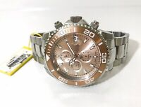 Invicta Mens Pro Diver Swiss Automatic Chronograph 52mm Rose Dial Watch 13986