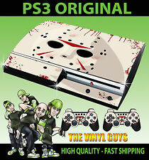 PLAYSTATION PS3 OLD SHAPE JASON VOORHEES MASK BLOODY STICKER SKIN & 2 PAD SKINS