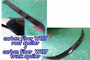 Carbon M-BENZ 13~18 W117 CLA-class Sedan OEM type roof spoiler + trunk spoiler ◎