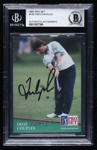 1991 Pro Set Fred Couples #130 BAS Certified BGS Encased Auto