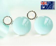 925 Sterling Silver Swarovski Crystal Cute Drop Stud Earring / Clip On Earring