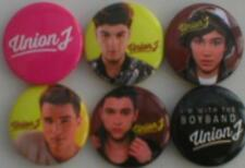 UNION J bunch of 6 - 2013 - BUTTON BADGES official licensed merchandise