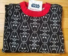 NWT Hanna Andersson Organic Star Wars Long John Pajamas BLACK DARTH VADER 110 5