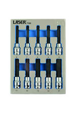 Laser 7162 Hex Allen Bit Socket Set 1/2 Drive 10pce 6mm - 17mm In Foam Holder