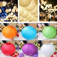 "6"" 8"" 10"" 12"" 14"" Round Paper Lanterns Lamp Shade Ball Wedding Party Home Decor"