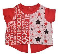CooGi para niña manga corta Estrellas Rojas Camiseta Talla 12meses