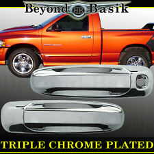 DODGE RAM 2500 3500 2003-2009 Chrome Door Handle COVERS W/o Pass Keyhole 2 door