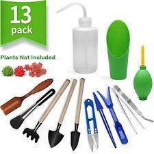 13 Pieces Mini Garden Hand Tools Transplanting Tools Succulent Tools Miniature
