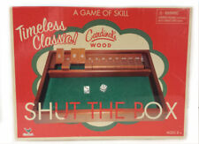 CARDINAL GAMES Shut The Box Classic Game Of Chance Wooden W/Inst and 2 Dice