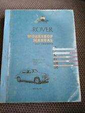 ROVER WORKSHOP MANUAL 1950 ONWARDS - May 1961