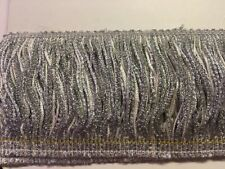 "4"" Silver Chainette Fringe with Metallic Glitter ~ 3.5 yards ~ $5.95"