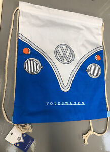 Official Volkswagen VW Campervan Bus Blue Drawstring Bag new with tags gift