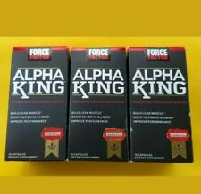 Force Factor Alpha King build lean muscle improve performance 3 new bottles 4/21