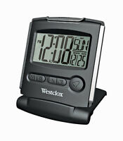 Westclox  Silver  Travel Alarm Clock  Batteries Required