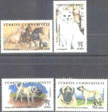 Mint stamps  Fauna Dogs  Cat Horses  2017 from Turkey    avdpz