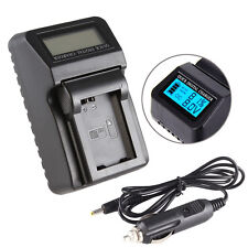 Digital LCD Single Battery Charger with Car Charger Cable For NP-FW50 Sony A7R