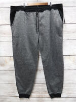 Southpole Joggers Mens Size 6XB Marled Black Fleece Slim Fit Jogger Pants New