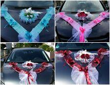 Auto Schmuck Blumen Braut Paar Dekoration Autoschmuck Tauben Hochzeit Deko LA68