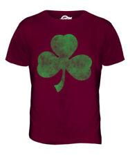 Trébol Estampado Relajado Camiseta Hombre Irlanda Irlandés San Día de Patricks