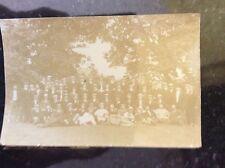 b1d  postcard unused men in boaters school group  old 1907