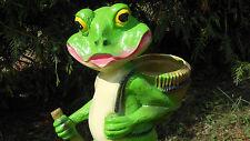 Frosch zum Bepflanzen 50 cm groß, Dekofigur, Blumen, DEKO