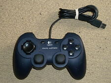 PC USB 10 BUTTON DUAL ANALOG STICK GAMEPAD CONTROLLER GAME PAD in Blue Logitech