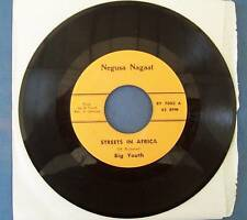 """BIG YOUTH ** STREETS IN AFRICA ** NEGUSA NEGAST - 7"""""""