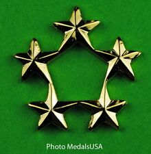 5 Star General Rank gold - collar, shirt, hat, ball cap insignia