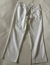 Ladies white tailored straight leg trousers by H&M 10