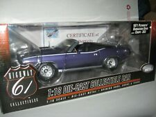 1 18 HIGHWAY 61 1971 PLYMOUTH BARRACUDA GRAN COUPE 383 INVIOLET BYC VERT#50724