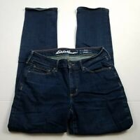 Eddie Bauer Curvy Straight Leg Jeans Womens Size 6 Short Blue Stretch Denim
