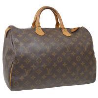 LOUIS VUITTON SPEEDY 35 HAND BAG MONOGRAM LEATHER M41524 MB8906 37342