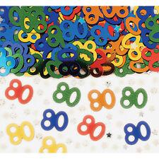 Alter 80 Tischkonfetti 80. Geburtstag Streusel 80. Party Tischdeko