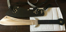 CHINESE WAR SWORD W/LEATHER SCABBARD, STRAPS-MADE IN PAKISTAN IN NICE CONDITION!