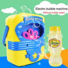 Children Bubble Machine Automatic Durable Blower Christmas Parties Wedding