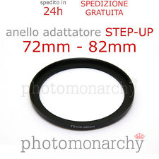 Anello STEP-UP adattatore da 72mm a 82mm filtro - STEP UP adapter ring 72 82 mm