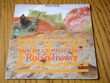 """ROBIN TROWER - WHAT IT IS  7"""" CLEAR VINYL PS"""