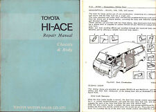 1972 TOYOTA HI-ACE Chassis & Body Factory Repair Manual