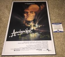 FRANCIS FORD COPPOLA SIGNED APOCALYPSE NOW 12X18 MOVIE POSTER GODFATHER BAS