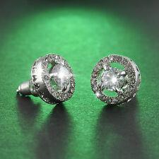 Women Austria Crystal Zircon Earrings Ear Studs Gift Party Wedding