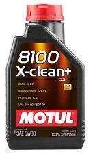 1 lt Motul 8100 X-Clean+ 5W30 Olio Motore 100% Sintetico ACEA C3 API SM/CF