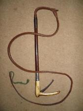 Antique Swaine-Adeney H/M Silver 1931 Hunting Whip-Concealed Wire Cutters-Lash.