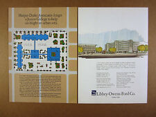 1968 community college urban renewal architectural concept drawings LOF Glass Ad