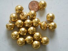 20 Vintage Brass Dome Ball Shank Buttons Military Waist Coat Style NOS