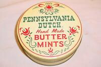 """VINTAGE 1950S PENNSYLVANIA DUTCH HAND MADE BUTTER MINTS 6"""" TIN HEX SIGN"""