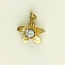9ct Rose Gold Welsh Design Daffodil Pendant with optional gold Chain