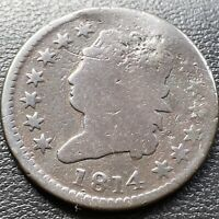 1814 Large Cent Classic Head One Cent 1c circulated  #28977