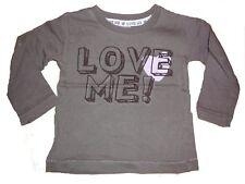 Zara tolles Langarm Shirt Gr- 68 braun mit Schriftzugdruck !!